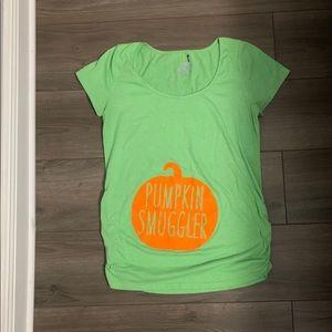 Tops - Maternity Halloween Pumpkim Smuggler Shirt
